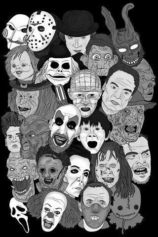 todos los personajes de terror