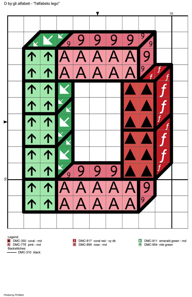 alfabeto lego: D