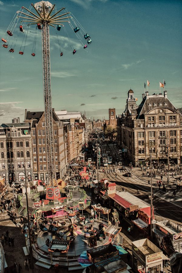 Fun Fair in Dam Square, Amsterdam, The Netherlands // photo by Luke Taylor
