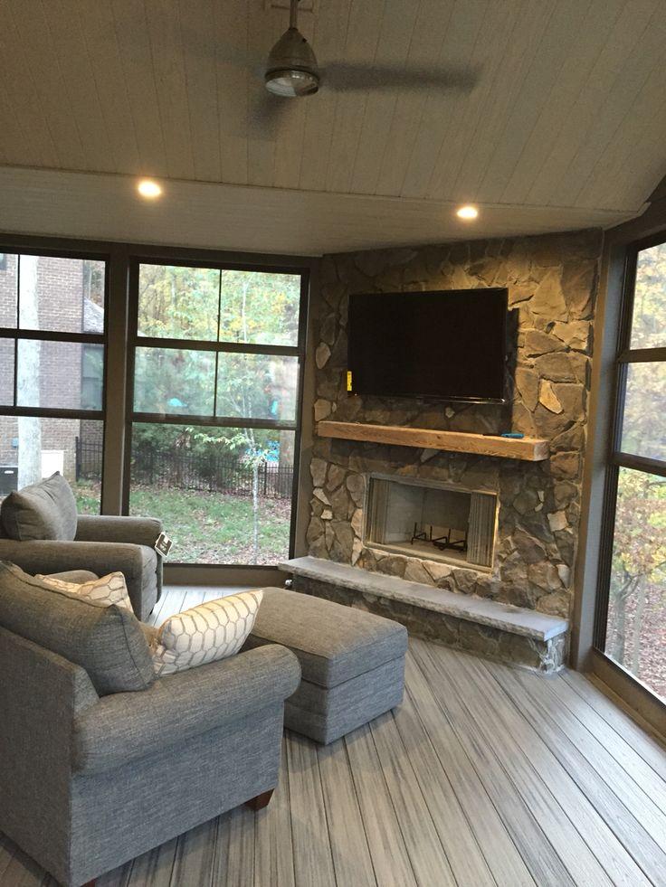 25 Best Ideas About Porch Fireplace On Pinterest