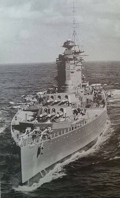Battleship HMS Nelson - One of the Big Seven, together with Rodney, Colorado, West Virginia, Maryland, Nagato and Mutsu.