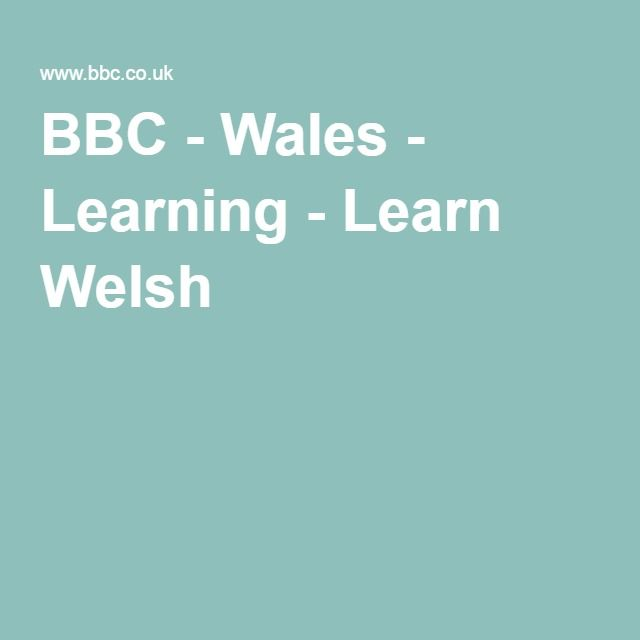 BBC - Wales - Learning - Learn Welsh