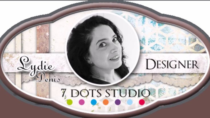 Video tutorial on how to create a mixed-media layout by Lydie Denis featuring 7 Dots Studio Hazy Days collection.