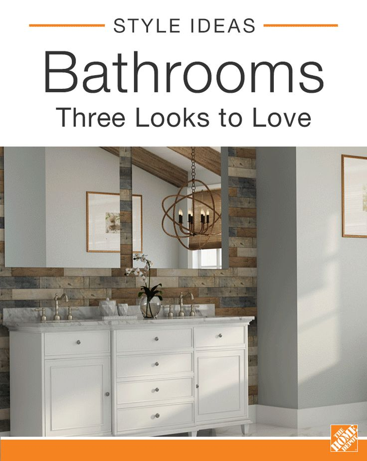These stylish baths combine serene color and natural textures to create a calm, spa-like atmosphere. Whether you're dreaming of sleek, modern hardware, vintage-inspired vanities, or a bright white master bath, take a look at these bathroom design ideas and find inspiration for your next upgrade.