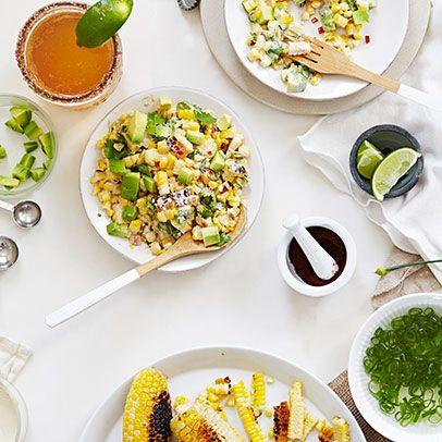 Try this deluxe vegan esquites, the queen of creamy roasted corn salads. Unlike most corn salads, this is best eaten when the corn is still warm from roasting.