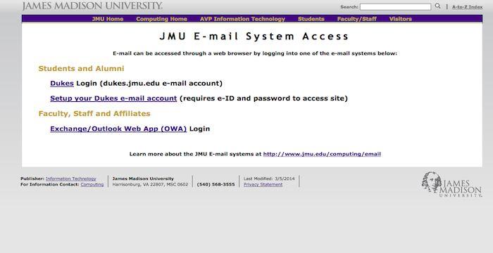 JMU Email