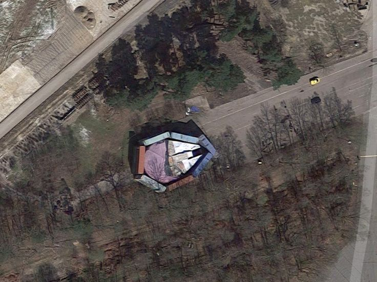 Disney tried to hide the Millennium Falcon with shipping containers  but it's on Google Maps