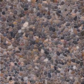 PR-G. Formato: 40x40x4 cm. Composición: terrazo lavado de canto rodado de rio y fondo gris. Uso exterior. #terrazo #terrazzo #pavimento #baldosa