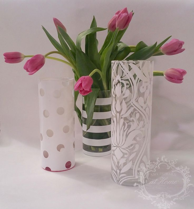 Lacquered vases