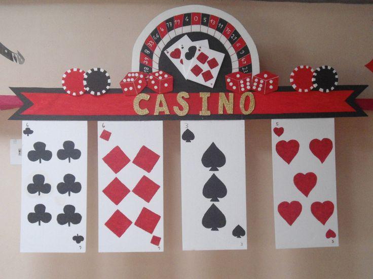 decoración para fiesta de cumpleaños  tema casino