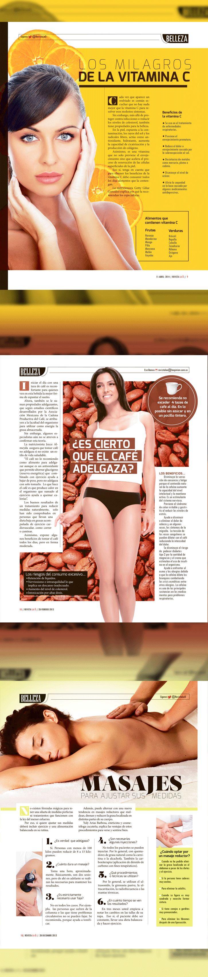 Diseño editorial // Revista: La Ó // Sección: Belleza instagram @carmarcusdesign