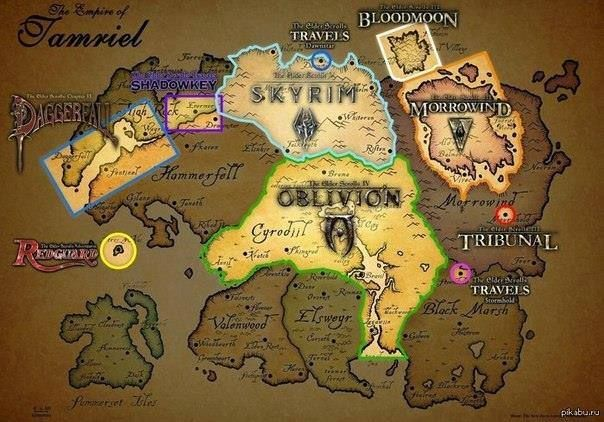 The Elder Scrolls map