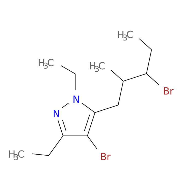 4-BROMO-5-(3-BROMO-2-METHYLPENTYL)-1,3-DIETHYL-1H-PYRAZOLE is now  available at ACC Corporation