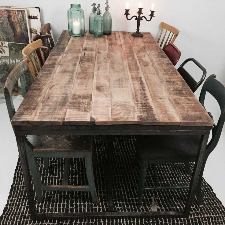 Dining Table In Mango Wood Large Dining Table Recycled Mang