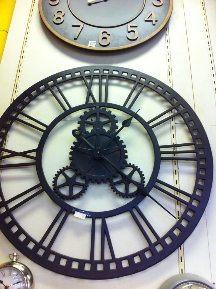 36 Quot Oversized Industrial Gear Wall Clock Love The Roman