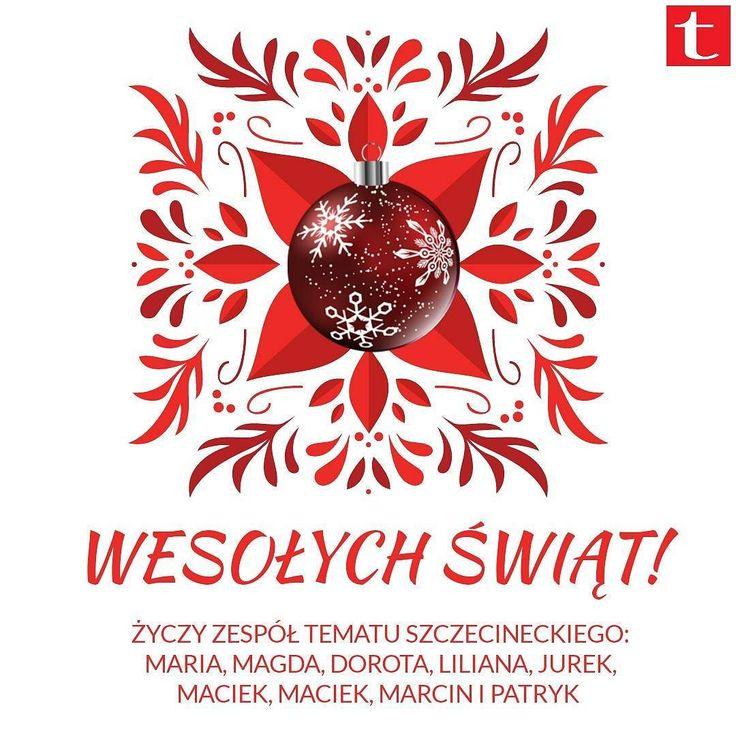 Wesołych Świąt od całego zespołu Tematu Szczecineckiego!  #święta #życzenia #redakcja #zespół #Szczecinek