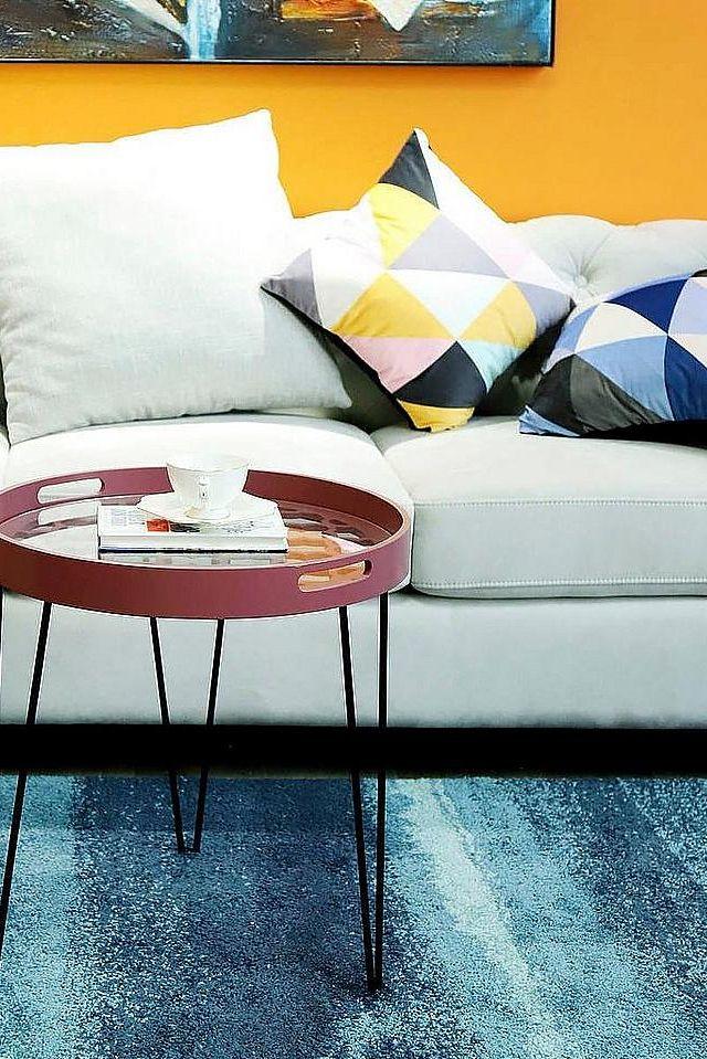Home Affaire Beistelltisch »River«, Rot | Einrichtungsideen Wohnzimmer |  BAUR | Pinterest