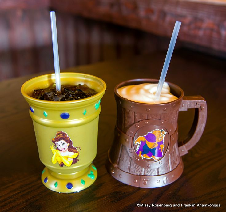 LeFou's Brew and Souvenir Cups at the New Fantasyland in Disney World! (Check out the hidden mickey on the stein!)