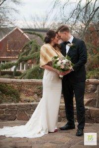 Gorgeous winter wedding photos at Peddler's Village in Bucks County, Pennsylvania