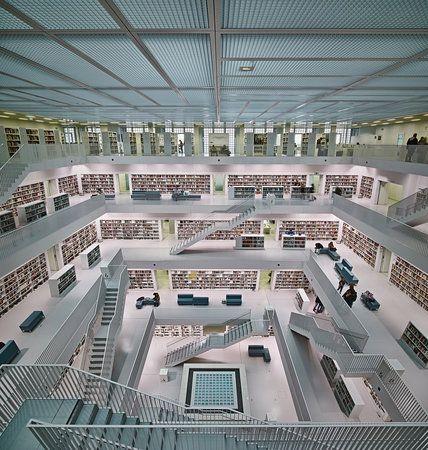 Stadtbibliothek Stuttgart inner space... by Rolf Mauer