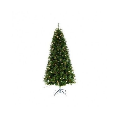 Artificial Christmas Tree 6.5 Feet 250 Clear Lights Home Festive Decoration