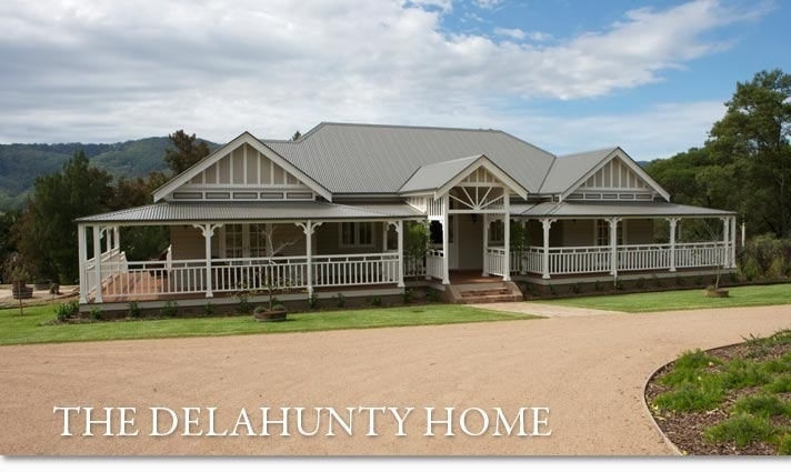 New old homestead classic deep verandahs around the for Homes with verandahs all around
