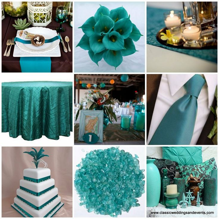Flowers * Teal Wedding Table Decorations | Classic Weddings And Events: Teal  Wedding Ideas