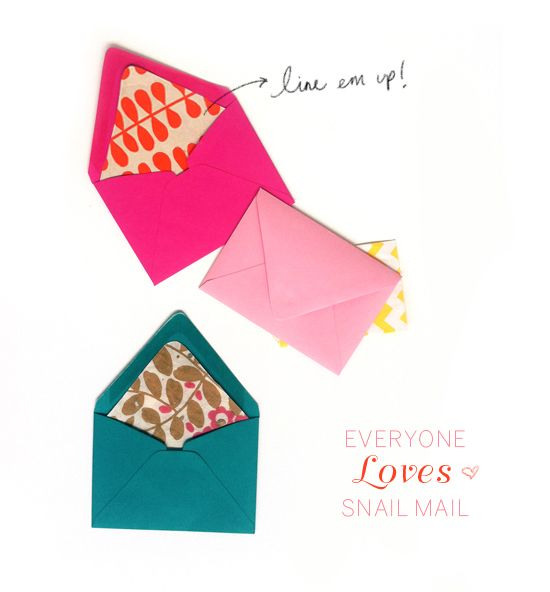 pretty lined envelopes