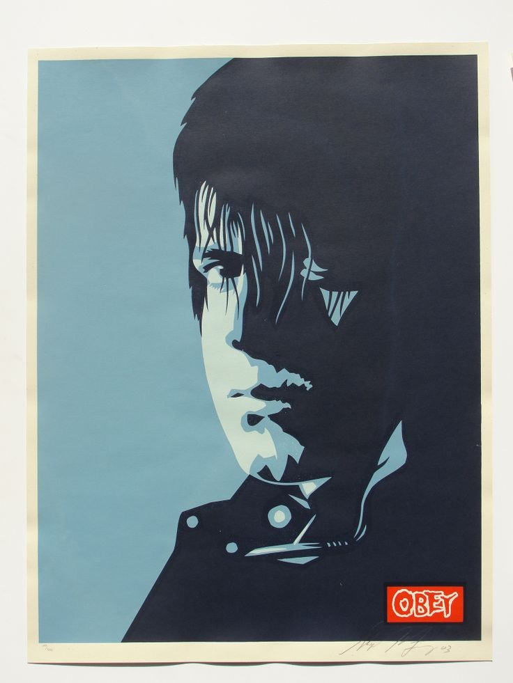 9 best shepard fairey obey giant prints for sale for Rock star photos for sale