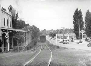 Camden Railway Line alongside Camden Valley Way near the corner of Narellan Rd,Narellan in south western Sydney (year unknown).     🌹