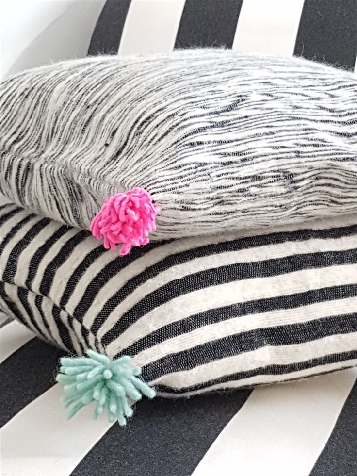 Black and white: handwoven cushion covers designed by kira-cph.com