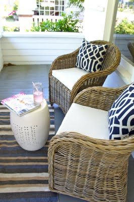 cute porch, different table