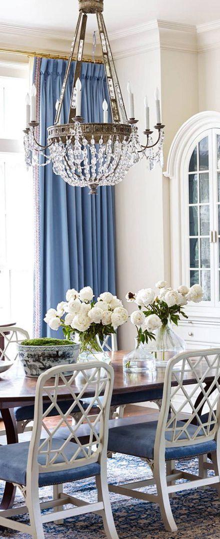 Blue Dining Room Ideas | Suzanne Kasler Interior Design
