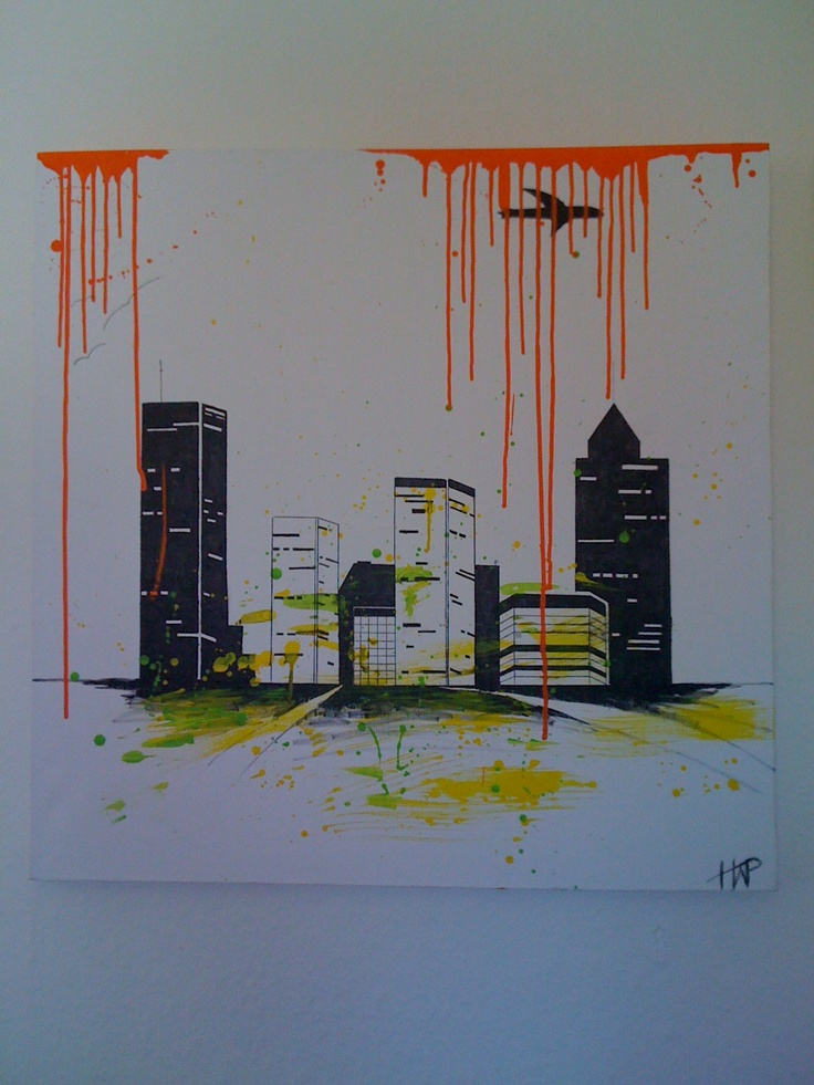 Acryl Painting - City Life (HWP)
