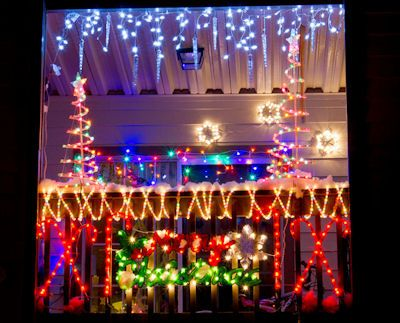 images of apartments patios decorated for christmas   The Balcony of an apartment in La Grange, GA decked up for Christmas ...