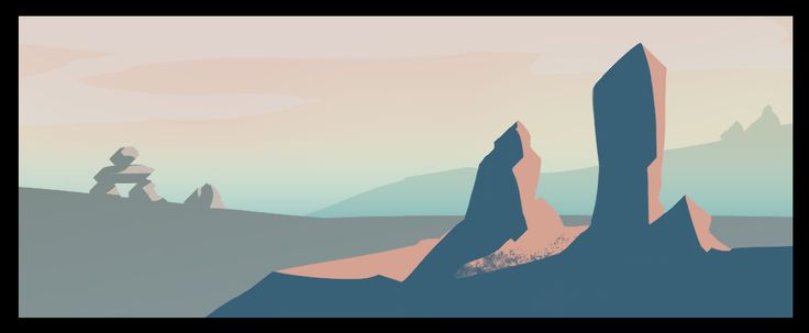 landscape study, digital background art