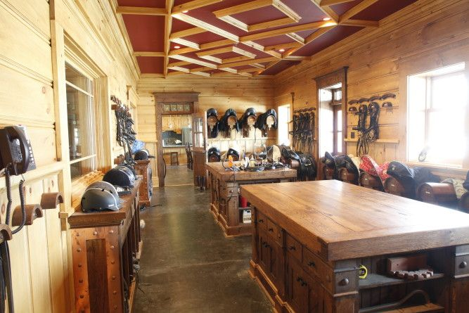 Check out this large and spacious tack room built by B&D Builders. www.custombarnbuilding.com