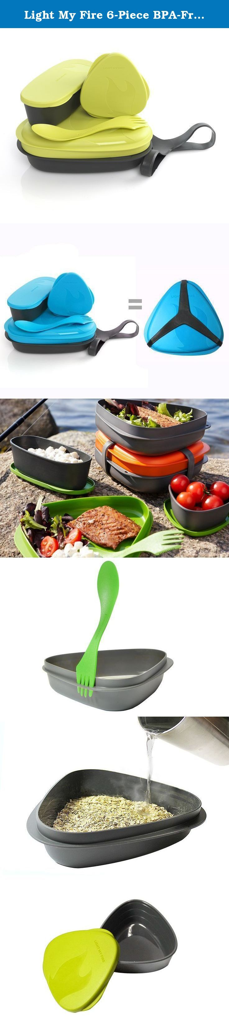 Light My Fire 6-Piece BPA-Free Lunch Kit with Plate, Bowl, Storage Boxes and Spork. Designed especially for Light My Fire by Scandinavian designer Joachim Nordwall, the LunchKit has become a modern classic. The colorful LunchKit has been updated and expanded to include 6 utilitarian pieces: 1 lid/plate, 1 plate/bowl, 1 SnapBox original with lid (170 ml), 1 SnapBox Oval with lid (320 ml), 1 Spork original and a carry harness. The LunchKit packs up into its own container and is held…