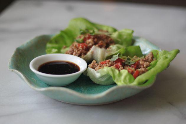 Sweet & Spicy Pork Lettuce Wraps: Bam It Paleo, Pork Lettuce Wraps ...