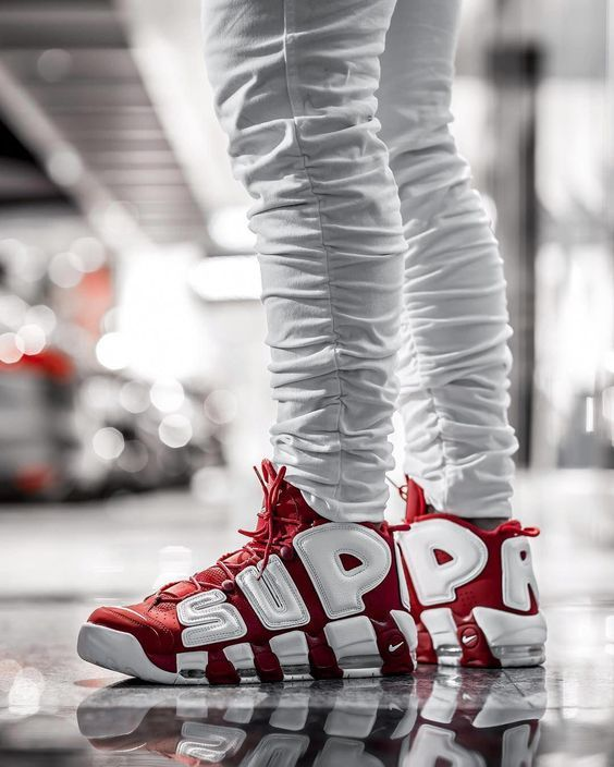 863d474508e Mens size Nike UPTEMPO Supreme Varsity Red fake sneakers in 2019 ...