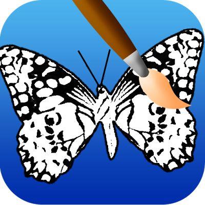 Kelebek boyama oyunları,boyama oyunları,hayvan boyama oyunları