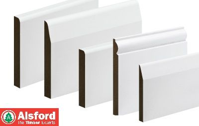 MDF Skirting - Precision engineered MDF Skirting for finishing a door frame. Ideal smooth surface ready for painting.