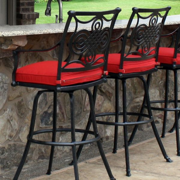 Two Outdoor Bar Stools with Transitional Style - Superior Patio Furniture from Leisure Select!