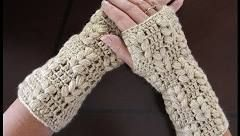 Guantes sin Dedos en Telar / Mitones- FACIL - Fingerless Gloves / Mittens on a Loom in Spanish - YouTube