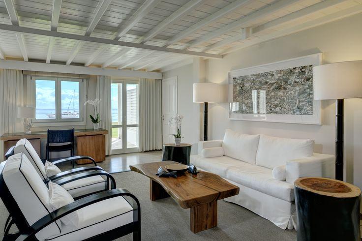 Deluxe Seaview Suite Living Area - Open Plan | Santa Marina, A Luxury Collection Resort, Mykonos