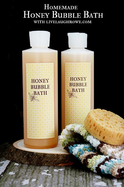 Homemade Honey Bubble Bath    A simple and moisturizing bubble bath recipe to make for yourself or a great Mother's Day Gift   Please help me increase this posts reach! √ Like √ Comment √ Share √ Thank you! help support our page by sharing our postings thank you Remember to visit my page daily to see all our postings