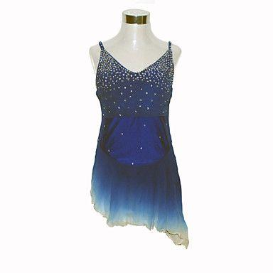 Niña borla de seda vestido de patinaje artístico (Azul) – EUR € 164.99