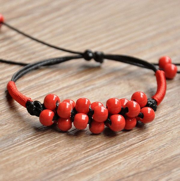 Wholesale Candy Ceramic Beads Bracelet Charms Chain DIY Handcrafts Charms Bracelets Chinese Natural Ceremic Bracelet