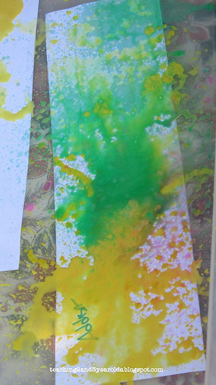 Chalk Spray Paintings - Teaching 2 and 3 year olds