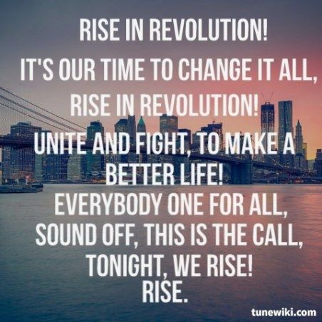 Rise by Skillet. I saw these guys for the first time last night at the Xtreme Winter Conference and they played this song. Needless to say, it was absolutely EPIC!!!